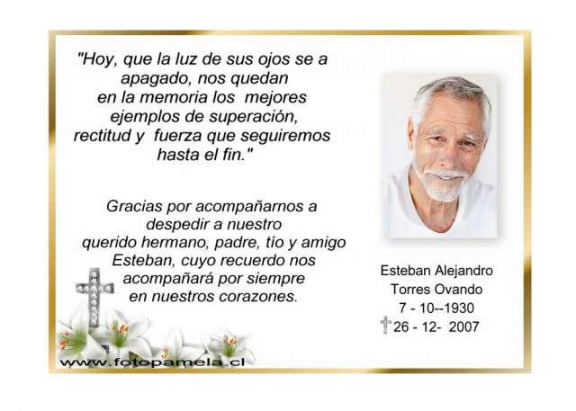 Tarjetas de defunción gratis - Imagui