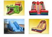 Espectaculares juegos inflables y juegos mecánicos