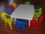 arriendo de sillas y mesas mas animacion infantil