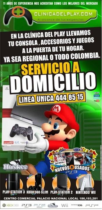 Reparacion, mantenimiento, instalacion de chip en videojuego valido para colombia