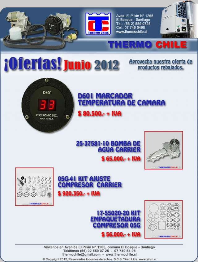 Distribucion repuestos thermoking y carrier