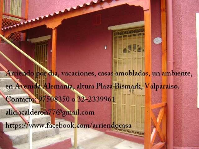 Duplex un ambiente arriendo diario en valparaiso, renovado, fono 97508350