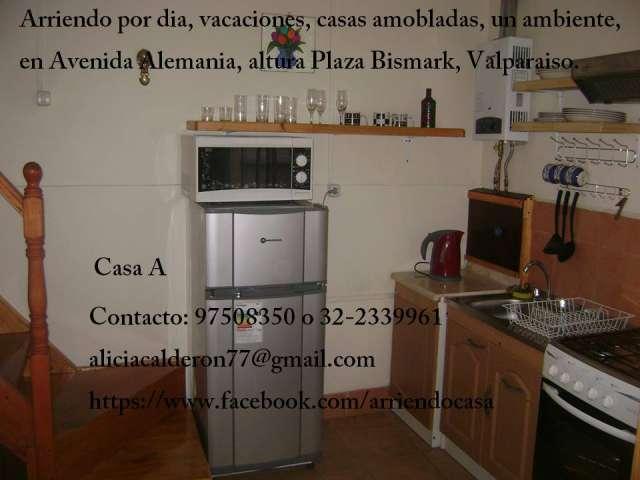 Amoblado, central, un ambiente, impecable, arriendo diario, valparaiso, fono 97508350