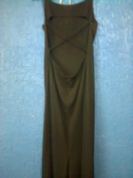 Vestido negro largo cruzado en la espalda talla 42/44