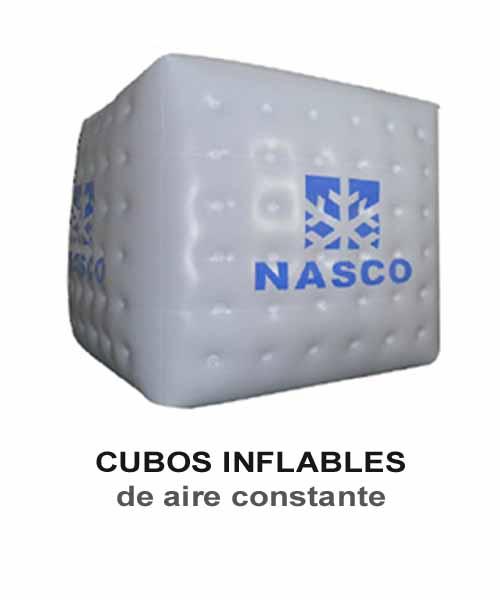 Inflables publicitarios. globos, cubos, cilindros, pelotas, peras, latas, arcos de meta.
